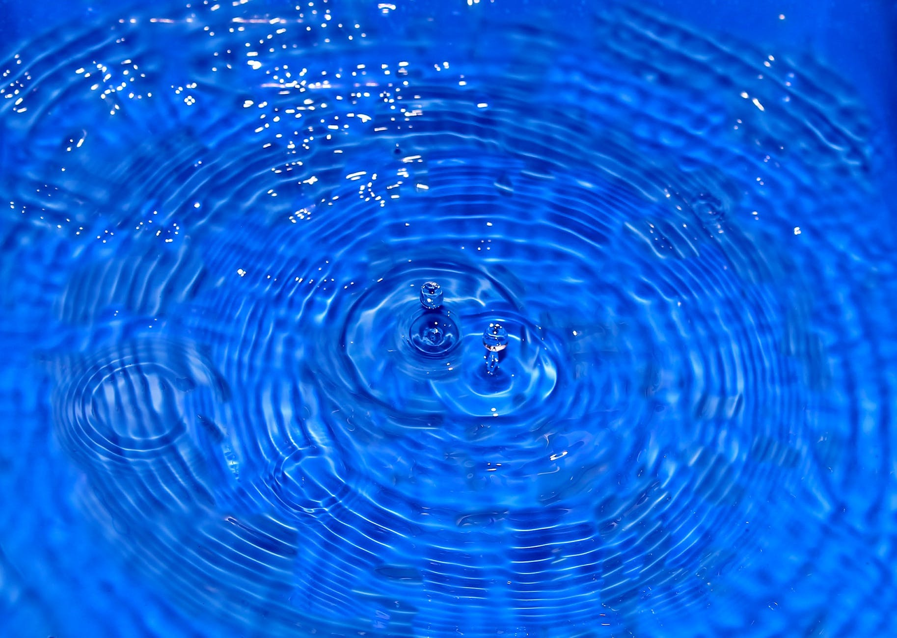 water wave circle drop of water